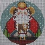 1363C NeedleDeeva 4.25 x 4.25 18 Mesh Cowboy Santa