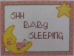 1017B NeedleDeeva 6 x 4.5 18 Mesh Bunny Sleeping on the Moon