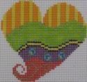 721G  NeedleDeeva 2.75 x 2.75 18 Mesh Color Waves