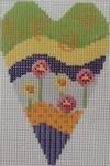 722C NeedleDeeva 2.8 x 3.5 18 Mesh Happy Heart