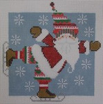 1348K NeedleDeeva 5 x 5 18 Mesh Santa on Skates