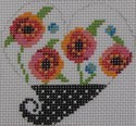 721D NeedleDeeva 2.75 x 2.75 18 Mesh Poppies and Polka Dots