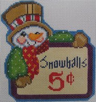 1348A NeedleDeeva 4.25 x 4.25 18 Mesh Snowballs