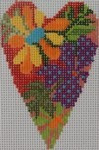722A NeedleDeeva 2.8 x 3.5 18 Mesh Tropical Heart