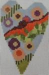 722H2.5 x 3.5 18 Mesh Wild Flower Triangles Mini Heart NEEDLEDEEVA