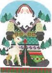 1364D NeedleDeeva 5x7 18 Mesh Santa and the Deer