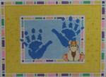 1113B NeedleDeeva 6.75 x 4.75 18 Mesh Boy Handprints