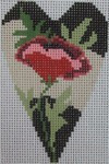 722B NeedleDeeva 2.8 x 3.5 18 Mesh Poppy Heart