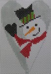 1343D NeedleDeeva 3.5 x 2.67 18 Mesh Snowman Heart
