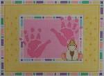 1113G NeedleDeeva 6.5 x 9.75 13 Mesh Girl Handprints