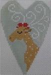 1343E NeedleDeeva 3.5 x 2.67 18 Mesh Reindeer Heart