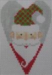 1343J NeedleDeeva 3.5 x 2.67 18 Mesh Santa Claus Heart