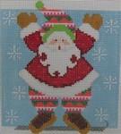 1348J NeedleDeeva 5 x 5 18 Mesh Snowboarding Santa