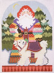 1364ANeedleDeeva 5 x 7  18 Mesh Arctic Santa