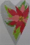 1343F NeedleDeeva 3.5 x 2.67 18 Mesh Poinsettia Heart
