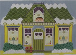 1366 NeedleDeeva 8.5 x 6 18 Mesh Hanukkah House