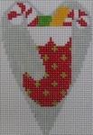 1343K NeedleDeeva 3.5 x 2.67 18 Mesh Stocking Heart