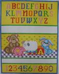 1208 NeedleDeeva 8.5 x 10.5 13 Mesh  Bear and Pig Birth Sampler