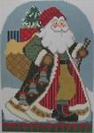 1364F NeedleDeeva 5 x 7  18 Mesh Santa and the Loot
