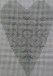 1343B NeedleDeeva 3.5 x 2.67 18 Mesh Snowflake Heart