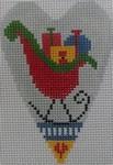 1343L NeedleDeeva 3.5 x 2.67 18 Mesh Sleigh Heart