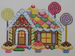 1352 NeedleDeeva 7x5 18 Mesh Gingerbread House