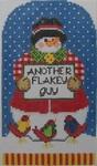 1333 NeedleDeeva 4.25 x 5.5 18 Mesh Flakey Fred Snowman