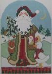 1364B NeedleDeeva 5 x 7  18 Mesh Santa and the Animals