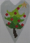 1343C NeedleDeeva 3.5 x 2.67 18 Mesh Christmas Tree Heart
