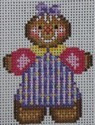 1352B NeedleDeeva 1.7 x 2.5 18 Mesh Purple Gingerbread Girl