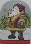 1364C NeedleDeeva 5 x 7  18 Mesh Musical Santa