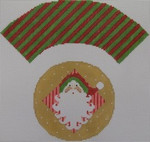1378F NeedleDeeva 7x8 18 Mesh Santa Cupcake