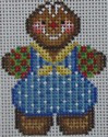1352C  NeedleDeeva 1.7 x 2.5 18 Mesh Blue Gingerbread Boy