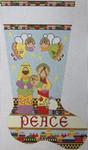 1356B NeedleDeeva 14x22 13 Mesh Nativity Stocking