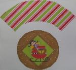 1378B NeedleDeeva 7x8 18 Mesh Santa's Sled Cupcake