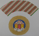 1378L NeedleDeeva  7x8 18 Mesh Gingerbread House Cupcake
