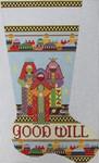 1356C NeedleDeeva 14x22 13 Mesh Three Kings Stocking