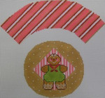 1378C NeedleDeeva 7x8 18 Mesh Gingerbread Cookie Cupcake