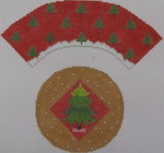 1378D NeedleDeeva 7x8 18 Mesh Christmas Tree Cupcake