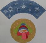 1378E NeedleDeeva 7x8 18 Mesh Snowman Cupcake