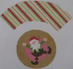 1378J NeedleDeeva 7x8 18 Mesh Dancing Elf Cupcake