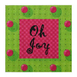 "DH3782-13 - Oh Joy! 9 3/4 x 10"" 13 count"
