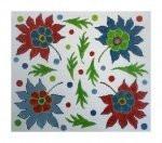 """Fiori Designs F3663 - Turkey Flowers 2 1/4 x 10 3/4"""" 18 count white mono"""