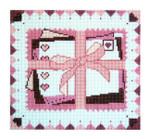 """Fiori Designs F3641 - Love Letters 5 3/4 x 5 1/4"""" 18 count white mono"""