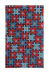 """Fiori Designs F3656 - Puzzle Bag, Red & Blue 4 1/2 x 7"""" 13 count white mono"""