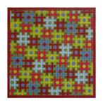 """Fiori Designs F3658 - Puzzle Folio, Red & Green 6 1/4 x 3"""" 18 count white mono"""