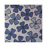 """Fiori Designs F3657 - Flower Folio 6 1/4 x 6 1/2"""" 13 count white mono"""