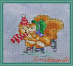 Cross Stitching Art Winter Joy Size: 79w x 63h