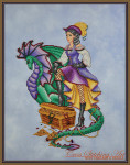 Cross Stitching Art Margot The Treasure Keeper Size: 138w x 198h