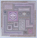 Marvellous Mauves Freda's Fancy Stitching  Pattern Only